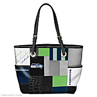 Seahawks For The Love Of The Game Tote Bag With Team Logos