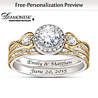 Endless Love Personalized Bridal Ring Set