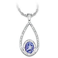 Tanzanite Opulence Diamond Pendant Necklace