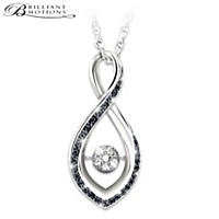 Midnight Magic Diamond Pendant Necklace