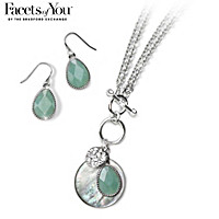 Ocean View Necklace And Earrings Set