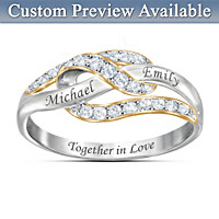 Joined Forever In Love Personalized Diamond Ring