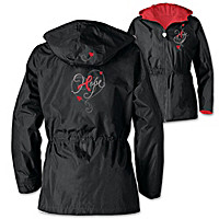 Red Ribbon Of Hope Women's Jacket