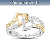 Sweethearts Forever Personalized Ring