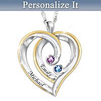 Just The Two Of Us Personalized Pendant Necklace
