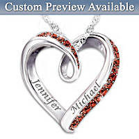 Wrapped In Love Personalized Diamond Pendant