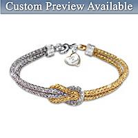 Love Knot Personalized Diamond Bracelet