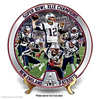 Super Bowl XLIX Champions Patriots Collector Plate