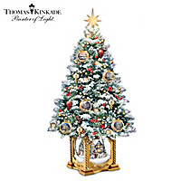 Thomas Kinkade Snow-Kissed Holiday Memories Tabletop Tree