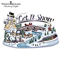 Thomas Kinkade Sparkle Of The Season Sculpture