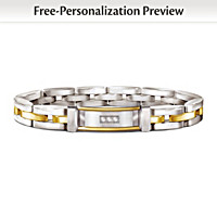Today, Tomorrow, Always Father Personalized Diamond Bracelet
