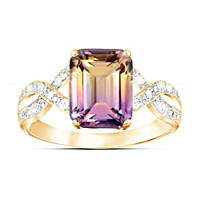 Sunset Oasis Ametrine And Diamond Ring
