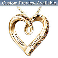 Wrapped In Love Personalized Diamond Pendant Necklace