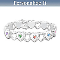 Hearts Full Of Love Personalized Bracelet