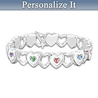 Hearts Full Of Love Personalized Bracelet