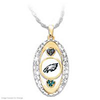 For The Love Of The Game Eagles Pendant Necklace