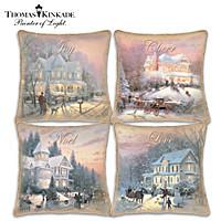 Thomas Kinkade Celebrate The Season Pillow Set