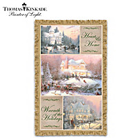 Thomas Kinkade Celebrate The Season Throw Blanket