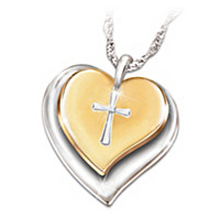 Heart Of Faith Diamond Pendant Necklace