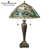 Thomas Kinkade Lamplight Bridge Table Lamp