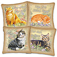 Feline Philosophy Pillow Set