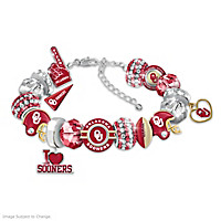 Fashionable Fan Sooners Bracelet