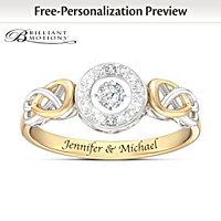 Let Your Heart Dance Personalized Diamond Ring