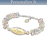 Faith And Family Personalized Bracelet