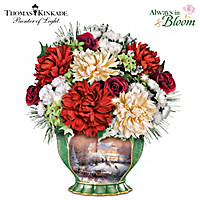 Thomas Kinkade Seasons To Celebrate Table Centerpiece