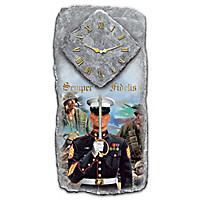 USMC Semper Fidelis Wall Clock
