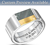 Forged Forever In Love Personalized Ring