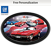 American Dream Car: Corvette Personalized Collector Plate