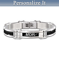 Unconditional Love Personalized Mens' Bracelet