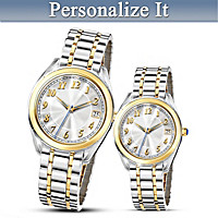 Always And Forever His And Hers Personalized Watch Set