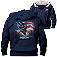 God Bless America Men's Hoodie