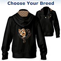 Paw Prints On My Heart Women's Hoodie