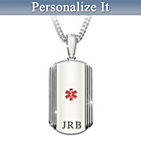 Medical Alert Personalized Pendant Necklace