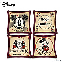 Disney Mickey Mouse And Minnie Mouse Happy Home Pillow Set