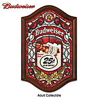 Budweiser Stained Glass Tavern Sign Wall Decor