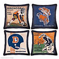 Denver Broncos Vintage Pillow Set