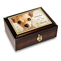 Chihuahuas Leave Paw Prints On Our Hearts Music Box
