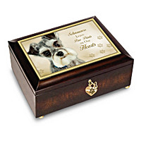 Schnauzers Leave Paw Prints On Our Hearts Music Box