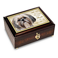 Shih Tzus Leave Paw Prints On Our Hearts Music Box