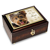 Yorkies Leave Paw Prints On Our Hearts Music Box