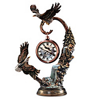 Watchful Guardians Tabletop Clock