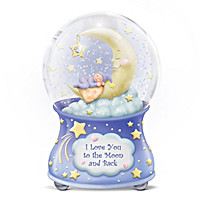 To The Moon And Back Glitter Globe