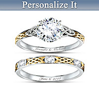 Irish Trinity Knot Her Personalized Bridal Ring