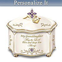 Granddaughter May The Lord Bless You Personalized Music Box