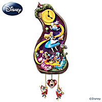 Disney Alice In Wonderland Rabbit Hole Cuckoo Clock