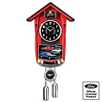 Classic Mustang Cuckoo Clock